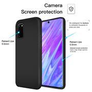 Handy Hülle für Samsung Galaxy S10 Lite Soft Case mit innenliegendem Stoffbezug