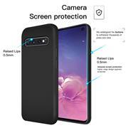 Handy Hülle für Samsung Galaxy S10 Soft Case mit innenliegendem Stoffbezug