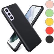 Handy Hülle für Samsung Galaxy S21 Plus Soft Case mit innenliegendem Stoffbezug