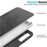 Handy Hülle für Samsung Galaxy S21 Soft Case mit innenliegendem Stoffbezug
