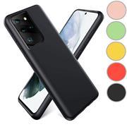 Handy Hülle für Samsung Galaxy S21 Ultra Soft Case mit innenliegendem Stoffbezug