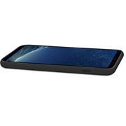 Handy Hülle für Samsung Galaxy S8+ Soft Case mit innenliegendem Stoffbezug