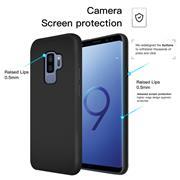 Handy Hülle für Samsung Galaxy S9+ Soft Case mit innenliegendem Stoffbezug