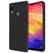 Handy Hülle für Xiaomi Redmi Note 7 Soft Case mit innenliegendem Stoffbezug