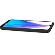 Handy Hülle für Xiaomi Redmi Note 8 Pro Soft Case mit innenliegendem Stoffbezug