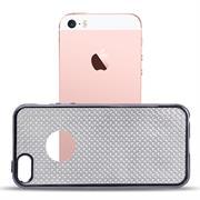 Glamour Schutzhülle Backcover für Apple iPhone 5 / 5S / SE Silikon Case im Bling Design Rahmen