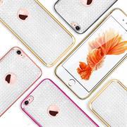 Glamour Schutzhülle Backcover für Apple iPhone 6 / 6S Silikon Case im Bling Design Rahmen