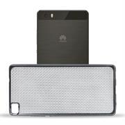 Glamour Schutzhülle Backcover für Huawei P8 Silikon Case im Bling Design Rahmen