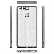 Glamour Schutzhülle Backcover für Huawei P9 Silikon Case im Bling Design Rahmen