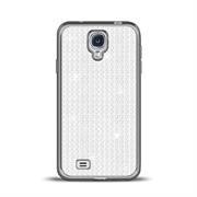 Glamour Schutzhülle Backcover für Samsung Galaxy S4 Silikon Case im Bling Design Rahmen