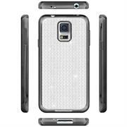 Glamour Schutzhülle Backcover für Samsung Galaxy S5 / S5 Neo Silikon Case im Bling Design Rahmen