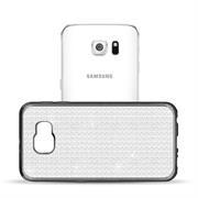 Glamour Schutzhülle Backcover für Samsung Galaxy S6 Silikon Case im Bling Design Rahmen