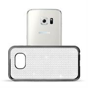 Glamour Schutzhülle Backcover für Samsung Galaxy S6 Edge Silikon Case im Bling Design Rahmen