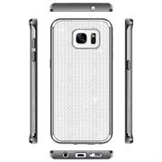 Glamour Schutzhülle Backcover für Samsung Galaxy S7 Silikon Case im Bling Design Rahmen