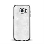 Glamour Schutzhülle Backcover für Samsung Galaxy S7 Edge Silikon Case im Bling Design Rahmen