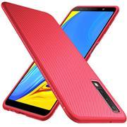 Schutzhülle für Samsung Galaxy A7 2018 Handy Schutz Hülle Silikon Case Luxuriös Cover