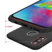 Schutzhülle für Samsung Galaxy M20 Handy Schutz Hülle Silikon Case Luxuriös Cover