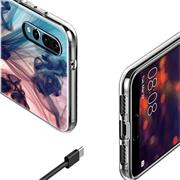 Handy Hülle für Huawei P30 Case Silikon Muster Cover Schutzhülle