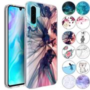 Handy Hülle für Huawei P30 Pro Case Silikon Muster Cover Schutzhülle