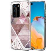 Motiv TPU Cover für Huawei P40 Pro Hülle Silikon Case mit Muster Handy Schutzhülle