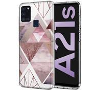 Motiv TPU Cover für Samsung Galaxy A21s Hülle Silikon Case mit Muster Handy Schutzhülle