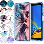 Handy Hülle für Samsung Galaxy A7 2018 Case Silikon Muster Cover Schutzhülle