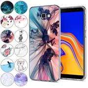 Handy Hülle für Samsung Galaxy J4 Plus Case Silikon Muster Cover Schutzhülle