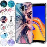 Handy Hülle für Samsung Galaxy J6 Plus Case Silikon Muster Cover Schutzhülle