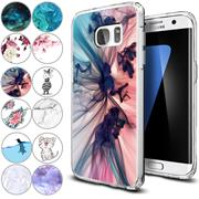 Handy Hülle für Samsung Galaxy S7 Case Silikon Muster Cover Schutzhülle