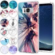 Handy Hülle für Samsung Galaxy S8 Case Silikon Muster Cover Schutzhülle