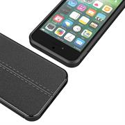 Handy Case für Apple iPhone 5 5S SE Hülle in einer Leder-Optik Struktur Tasche
