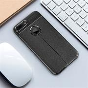 Handy Case für Apple iPhone 7 Plus Hülle in einer Leder-Optik Struktur Tasche