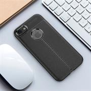 Schutz Hülle für Apple iPhone 7 Backcover Handy Case Leder Optik