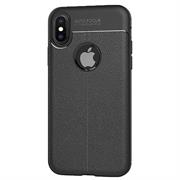 Schutz Hülle für Apple iPhone X / XS Backcover Handy Case Leder Optik