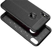 TPU Case für Apple iPhone XS Max Hülle Handy Schutzhülle Matt Schwarz