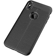 Handy Case für Apple iPhone XS Max Hülle in einer Leder-Optik Struktur Tasche