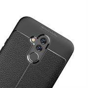 Schutz Hülle für Huawei Mate 20 Lite Backcover Handy Case Leder Optik
