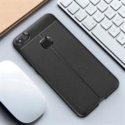 Schutz Hülle für Huawei P10 Lite Backcover Handy Case Leder Optik
