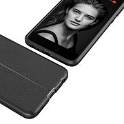 Schutz Hülle für Huawei P10 Backcover Handy Case Leder Optik
