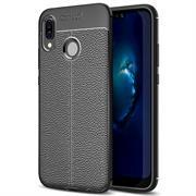 Schutz Hülle für Huawei P20 Lite Backcover Handy Case Leder Optik