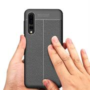 TPU Case für Huawei P20 Pro Hülle Handy Schutzhülle Matt Schwarz