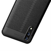 Handy Case für Huawei P20 Hülle in einer Leder-Optik Struktur Tasche