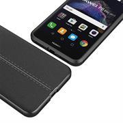 Handy Case für Huawei P8 Lite 2017 Hülle in einer Leder-Optik Struktur Tasche