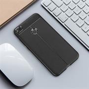 TPU Case für Huawei P8 Lite 2017 Hülle Handy Schutzhülle Matt Schwarz