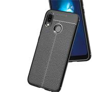 Schutz Hülle für Huawei P Smart 2019 Backcover Handy Case Leder Optik