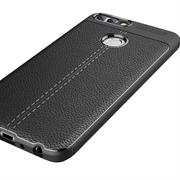 Schutz Hülle für Huawei P Smart Backcover Handy Case Leder Optik