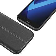 Schutz Hülle für Samsung Galaxy A5 2017 Backcover Case Leder Optik