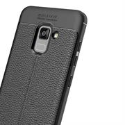 Schutz Hülle für Samsung Galaxy A8 Plus 2018 Handy Case Leder Optik