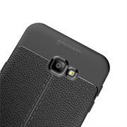 Schutz Hülle für Samsung Galaxy J6 Plus Backcover Handy Case Leder Optik