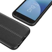 Schutz Hülle für Samsung Galaxy J5 2017 Backcover Case Leder Optik